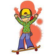 Skater Star - stock illustration