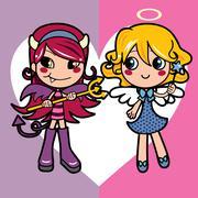 Angel and Demon Stock Illustration