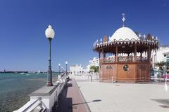 Pavilion on the promenade La Marina, Arrecife, Lanzarote, Canary Islands, Spain, Stock Photos