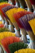 Incense maker, incense sticks drying, Hue, Thua Thien Hue province, Vietnam, Stock Photos
