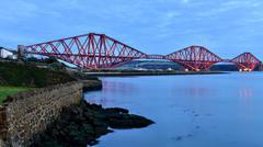 Forth Rail Bridge, UNESCO World Heritage Site, Scotland, United Kingdom, Europe Stock Photos