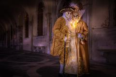 Costumes and masks during Venice Carnival, Venice, UNESCO World Heritage Site, Stock Photos