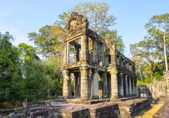 Prasat Preah Khan temple ruins, Angkor, UNESCO World Heritage Site, Siem Reap Stock Photos