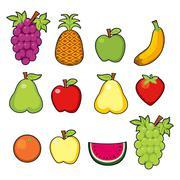 Sweet Juicy Fruits Stock Illustration