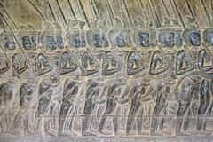 Stone carvings at Angkor Wat, UNESCO World Heritage Site, Siem Reap Province, Stock Photos