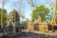 Ta Prohm temple ruins, Angkor, UNESCO World Heritage Site, Siem Reap Province, Stock Photos