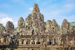 Prasat Bayon temple ruins, Angkor Thom, UNESCO World Heritage Site, Siem Reap Stock Photos