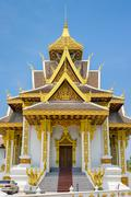 Vientiane City Pillar Shrine, Vientiane, Laos, Indochina, Southeast Asia, Asia - stock photo