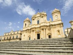 The Cathedral, UNESCO World Heritage Site, Noto, Sicily, Italy, Europe Stock Photos