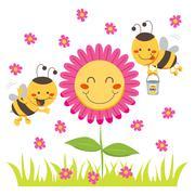 Happy Honey Bee Piirros