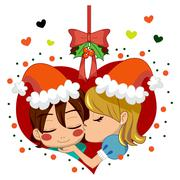 Christmas Love Kiss Piirros