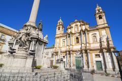 Church of San Domenico, Palermo, Sicily, Italy, Europe Stock Photos
