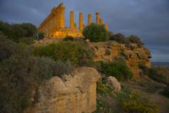 Temple of Juno, Valley of the Temples, Agrigento, UNESCO World Heritage Site, Stock Photos