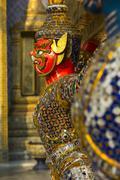 Detail, Grand Palace, Bangkok, Thailand, Southeast Asia, Asia - stock photo