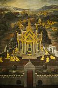 Mural in the Grand Palace, Bangkok, Thailand, Southeast Asia, Asia Stock Photos