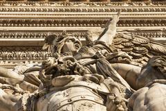 Detail, Arc de Triomphe, Paris, France, Europe Stock Photos