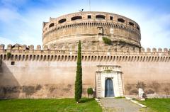 Mausoleum of Hadrian (Castel Sant'Angelo), UNESCO World Heritage Site, Rome, Stock Photos