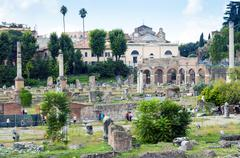 Forum of Nerva, Roman Forum (Foro Romano), UNESCO World Heritage Site, Rome, Stock Photos
