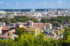 View over city from Janiculum Hill, Rome, Lazio, Italy, Europe Stock Photos