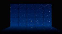Wall of moving stars with reflection - stock footage