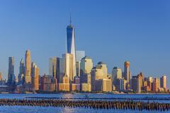 New York skyline, Manhattan, Lower Manhattan and World Trade Center, Freedom Stock Photos