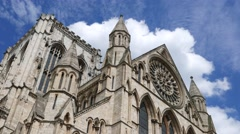 Low angle shot of York Minster Stock Footage