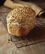 Food, bakery, seeded bread, granary loaf, sunflower seeds Stock Photos