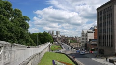 York city wide angle view Stock Footage