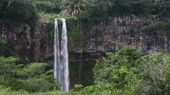 Chamarel waterfalls in Mauritius - stock footage