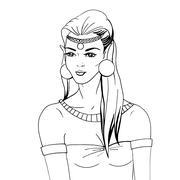 Doodle portrait of an elven princess Stock Illustration