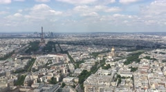 Paris Montparnasse Tower Panoramic Observation, 4K Stock Footage