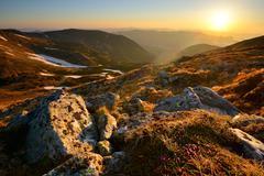 Chornogora Ridge Landscape, Carpathian Mountains, Ivano-Frankovsk Region, Stock Photos