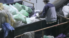Production of polymer chips. Plastic recycling Stock Footage