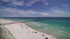 Florida Gulf Coast 360 Degree Aerial Footage at Panama City Beach Stock Footage