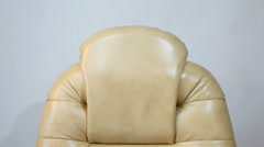 New Leather Office Boss Chair (armchair).  Stock Footage