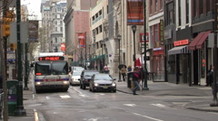 Downtown Philadelphia Street Scene Stock Footage