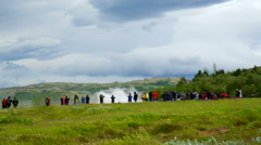 Strokkur geysir on iceland, Iceland Stock Footage