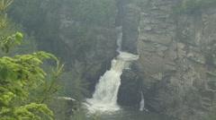 Linville Falls: Blue Ridge Mountains-Rain/Thunder Storm Stock Footage