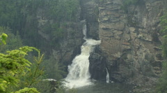 Linville Falls in a rainstorm Stock Footage
