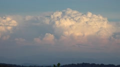 Summer Cumulus Clouds, Appalachian Mountains Stock Footage