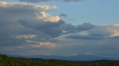 Late Afternoon Clouds, Appalachian Mountains Stock Footage