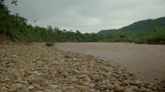 Tambopata river in the Peruvian rainforest Stock Footage