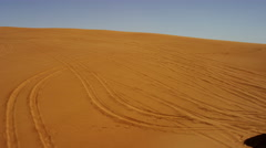 Aerial Drone view Off Road Desert Safari Dubai Sand Dunes Stock Footage