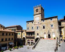 the town hall in Cortona, Tuscan , Italy - stock photo