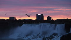 Niagara Falls At Sunrise Buffalo NY Stock Footage