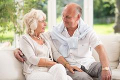 Tenderness in old age Stock Photos