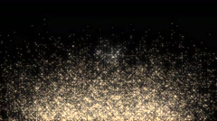 Golden glowing star particle in random direction  3D render abstract backgrou Stock Footage