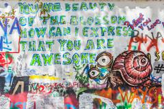 John Lennon Wall, Prague, Czech Republic. Graffiti background Kuvituskuvat