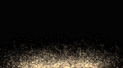 Golden glowing star particle in random direction  3D render abstract backgrou - stock footage