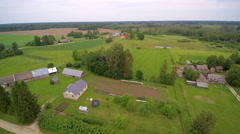 The beautiful aerial landscape view of the countryside Stock Footage